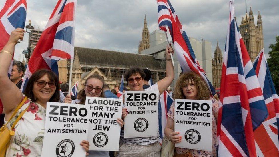Campaign against Anti-Semitism protest