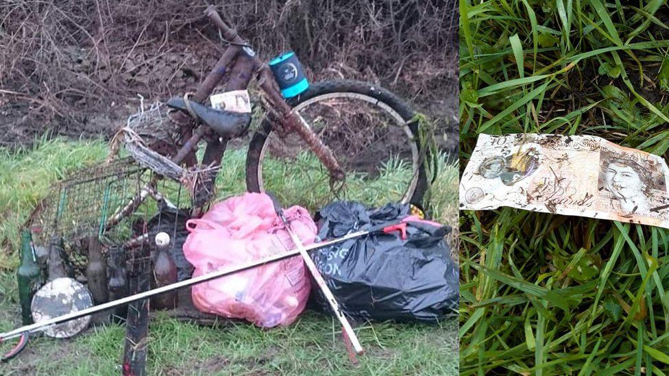 Discarded rubbish.