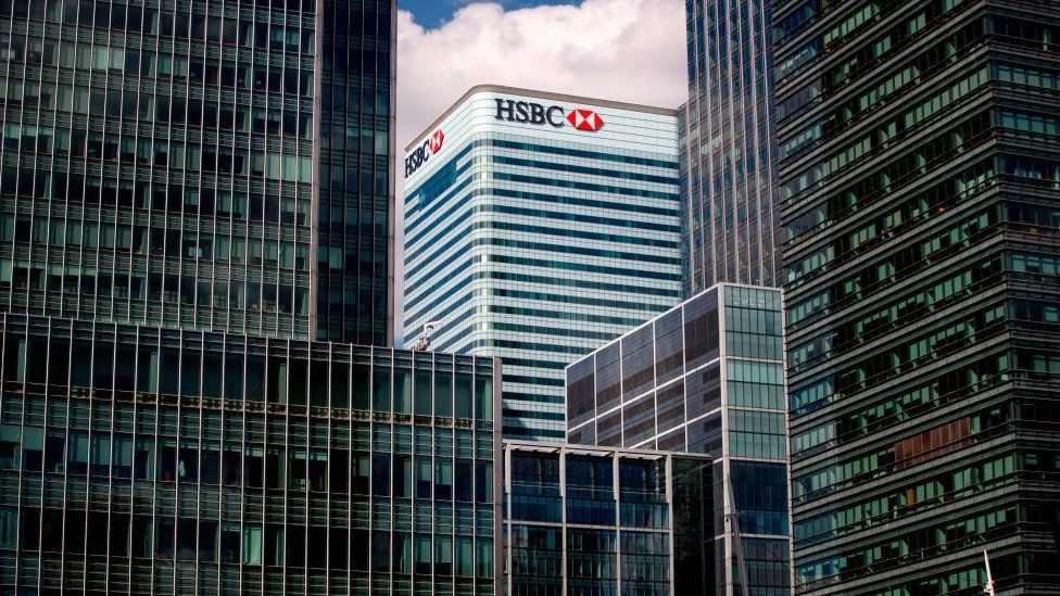 HSBC's office in Canary Wharf