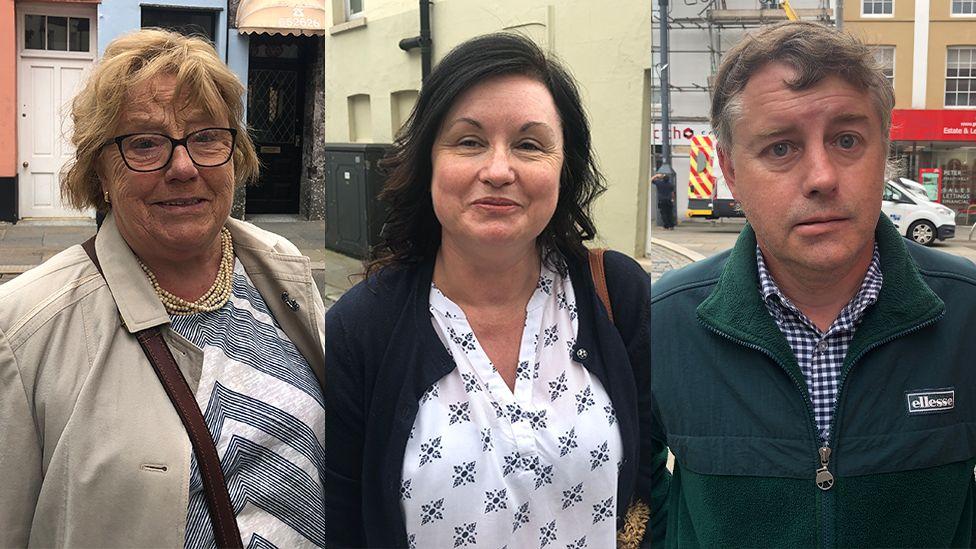 Elizabeth Davies, Leanne Rowlands and Steve Hone