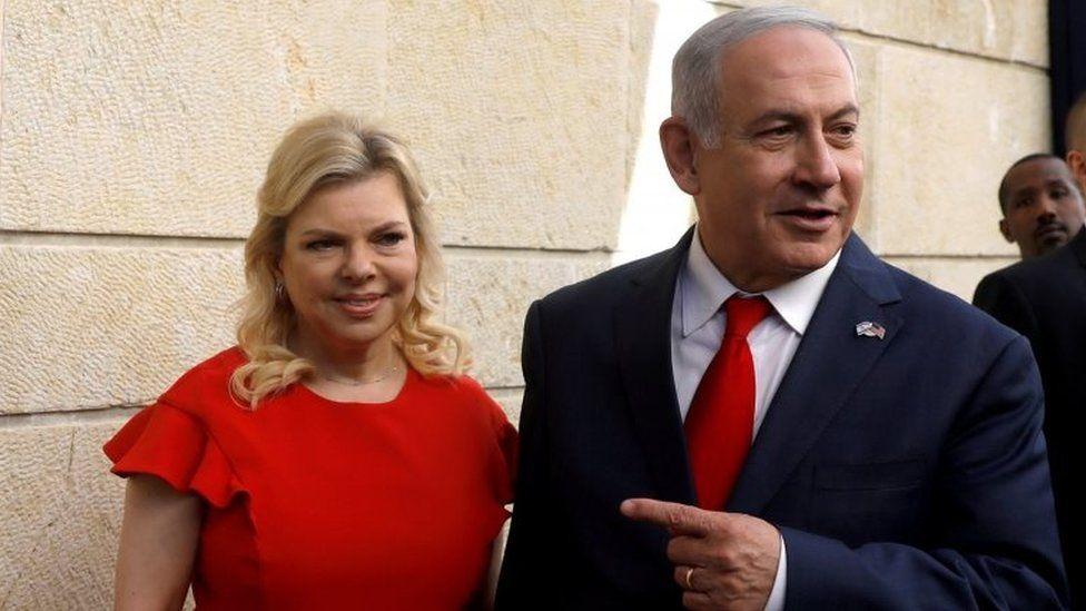 Israeli Prime Minister Benjamin Netanyahu (right) and his wife Sara. File photo