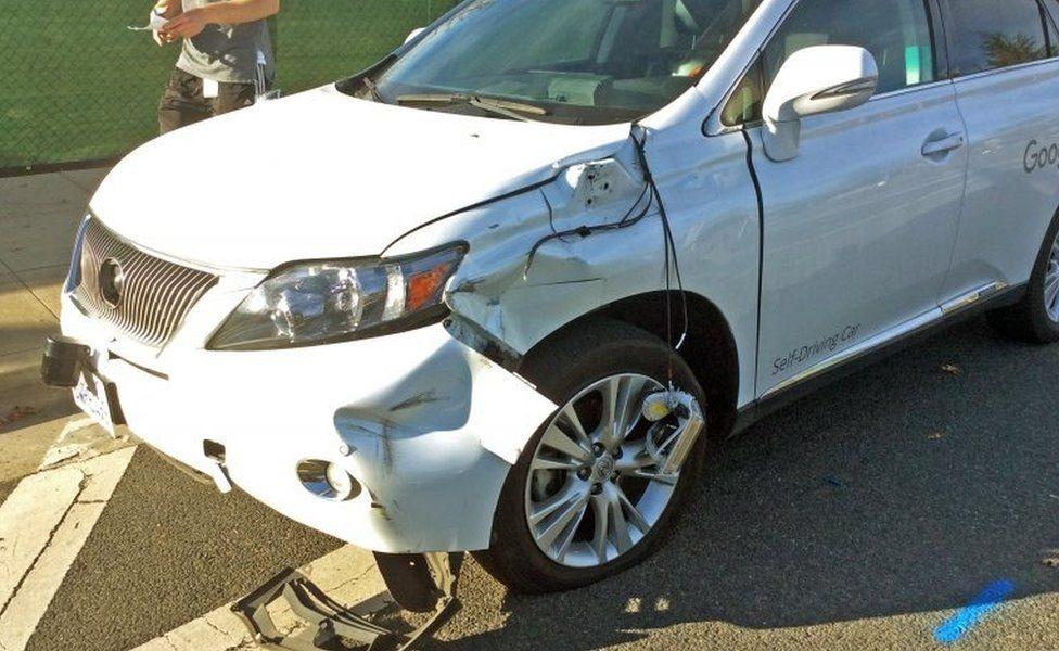 Google damaged car