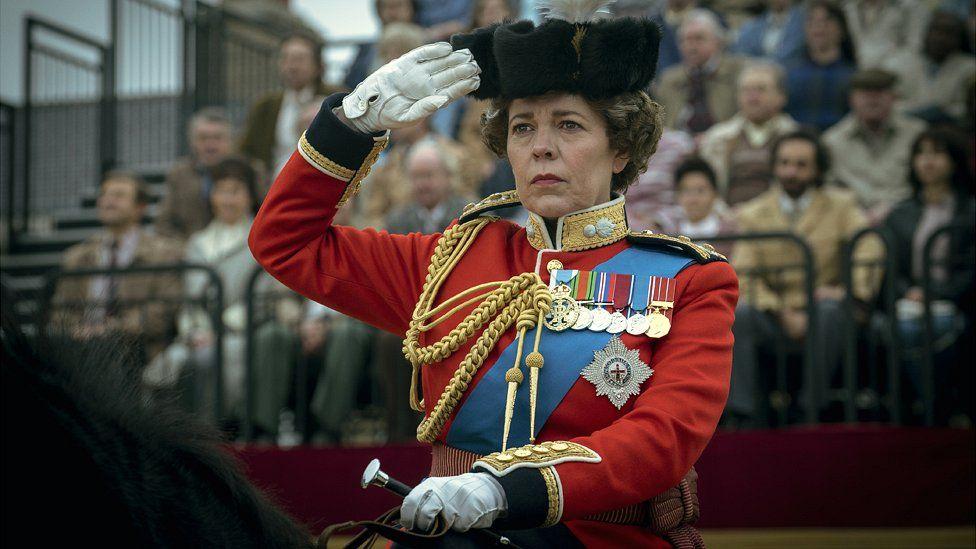 Olivia Colman as The Queen in Season Four