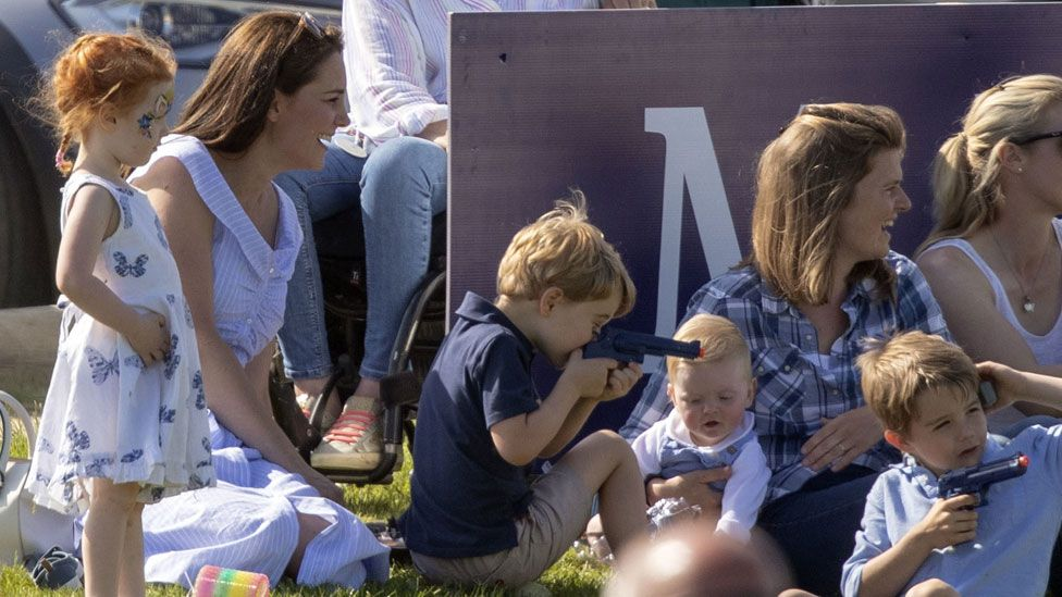 George with his mother, the Duchess of Cambridge, in June