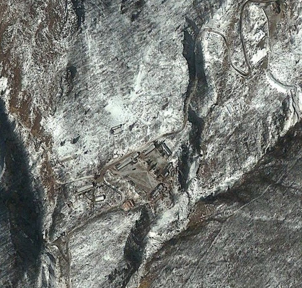 This DigitalGlobe satellite image of the Punggye-ni Nuclear Test Facility in North Korea was taken February 11, 2013.