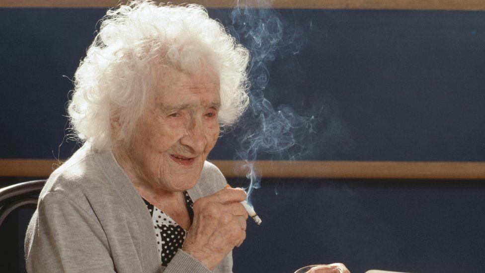 Jeanne Calment on her 117th birthday