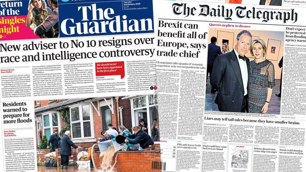 The Guardian and the Daily Telegraph