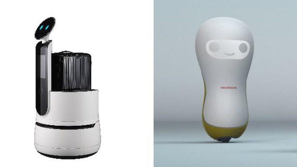 LG and Honda robot