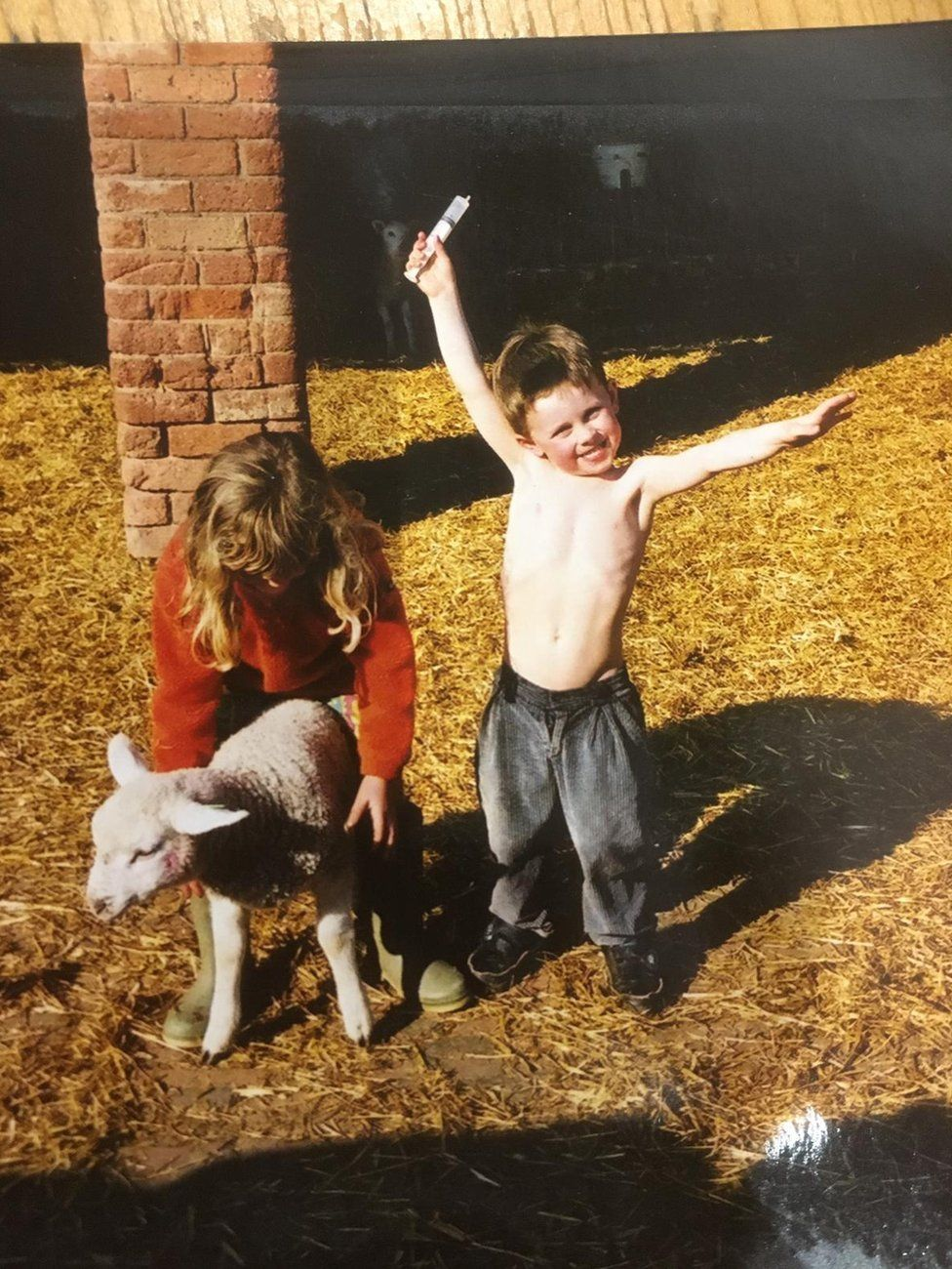 Murray Matravers as a child