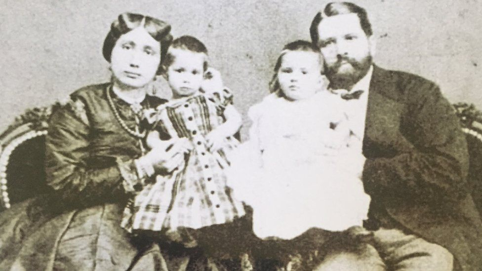 Sayyida Salme, her husband Rudolph Ruete and their two children