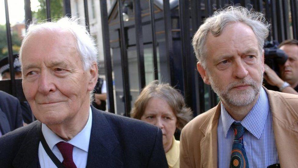 Tony Benn and Jeremy Corbyn