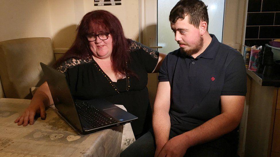 Stephen Barron and his mother Caroline