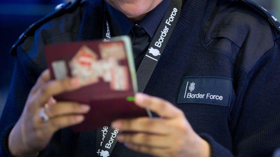 UK border force official