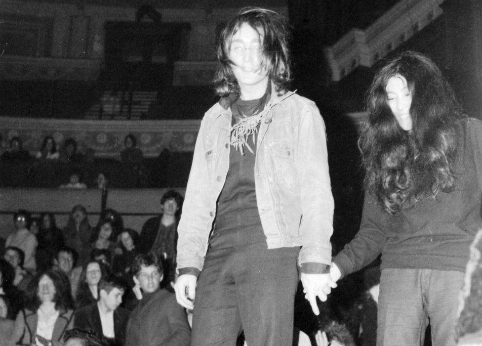 John Lennon and Yoko Ono at Royal Albert Hall