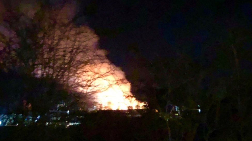 The fire at recycling plant