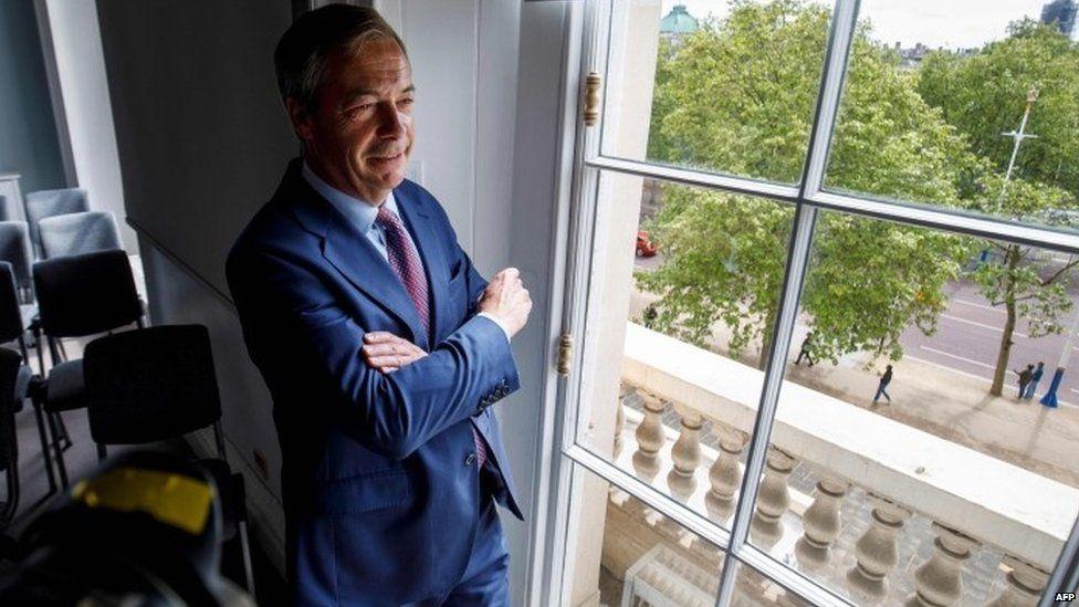 Nigel Farage in central London