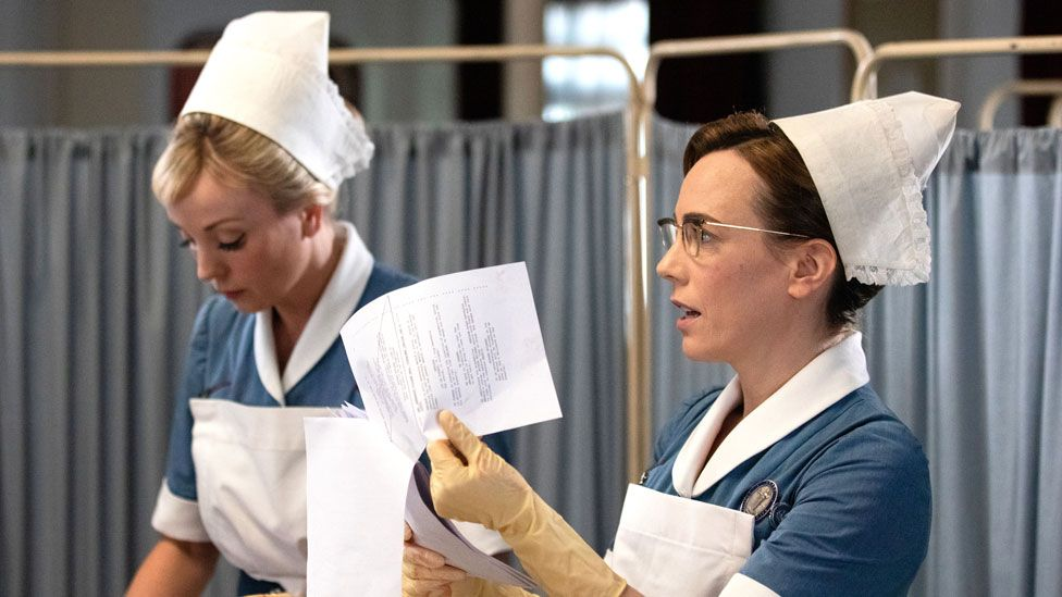 Helen George and Laura Main in Call the Midwife