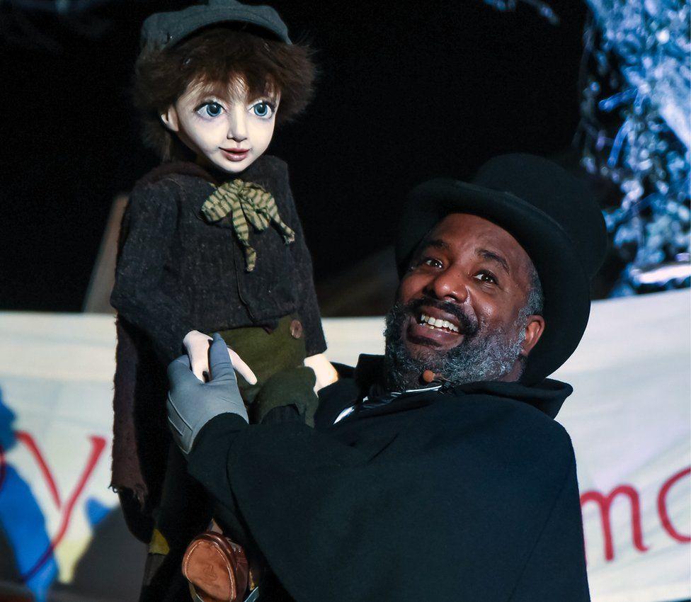 Lyric: W Jerome as Scrooge and Tiny Tim