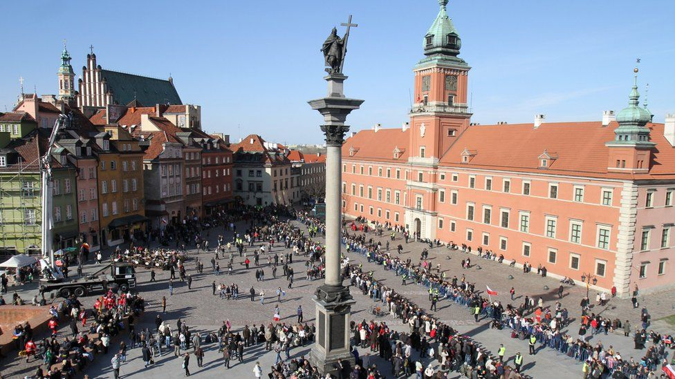 A view of the Royal Castle square in Warsaw