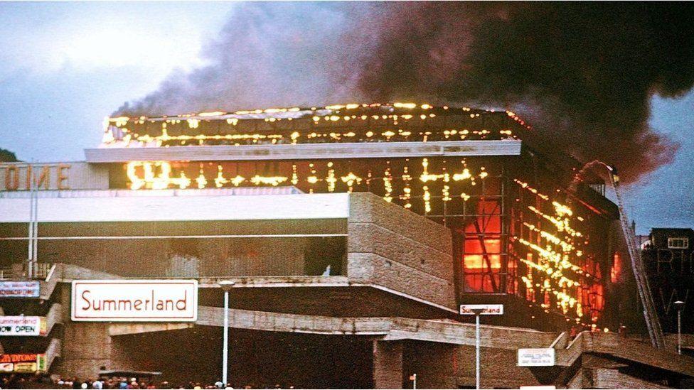 Summerland on fire