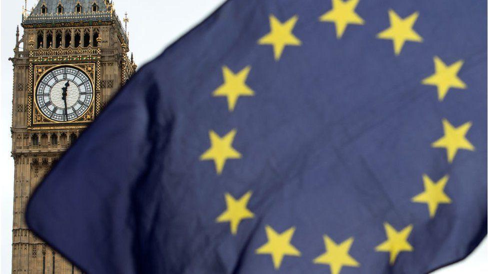 Big Ben and flag