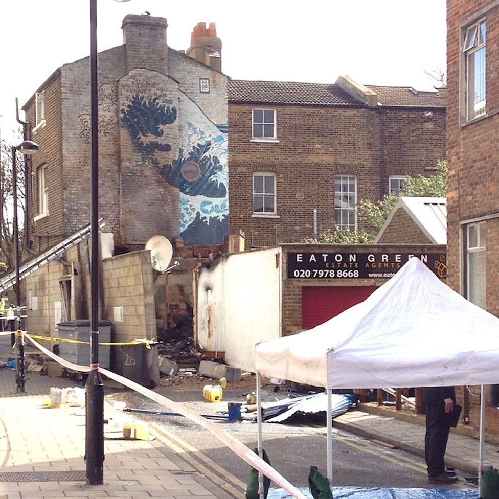 The mural after the fire