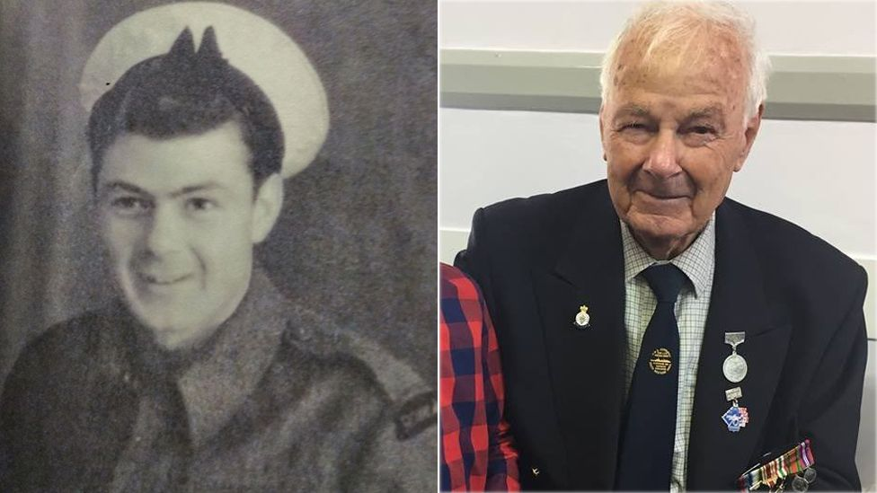 Alan Higgins, in 1944, and recently
