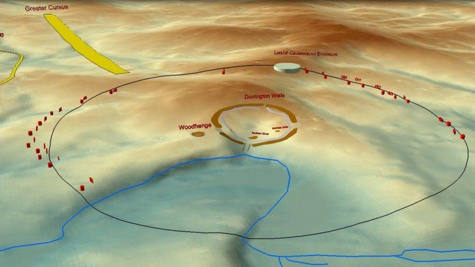 Image showing location of shafts near Stonehenge