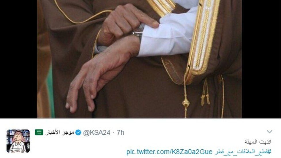 """""""Out of time,"""" tweeted this Saudi news outlet"""