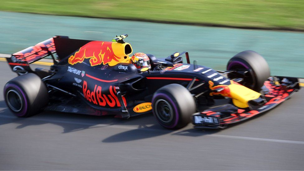 Red Bull's Dutch driver Max Verstappen speeds through a corner during the Formula One Australian Grand Prix in Melbourne on 26 March 2017