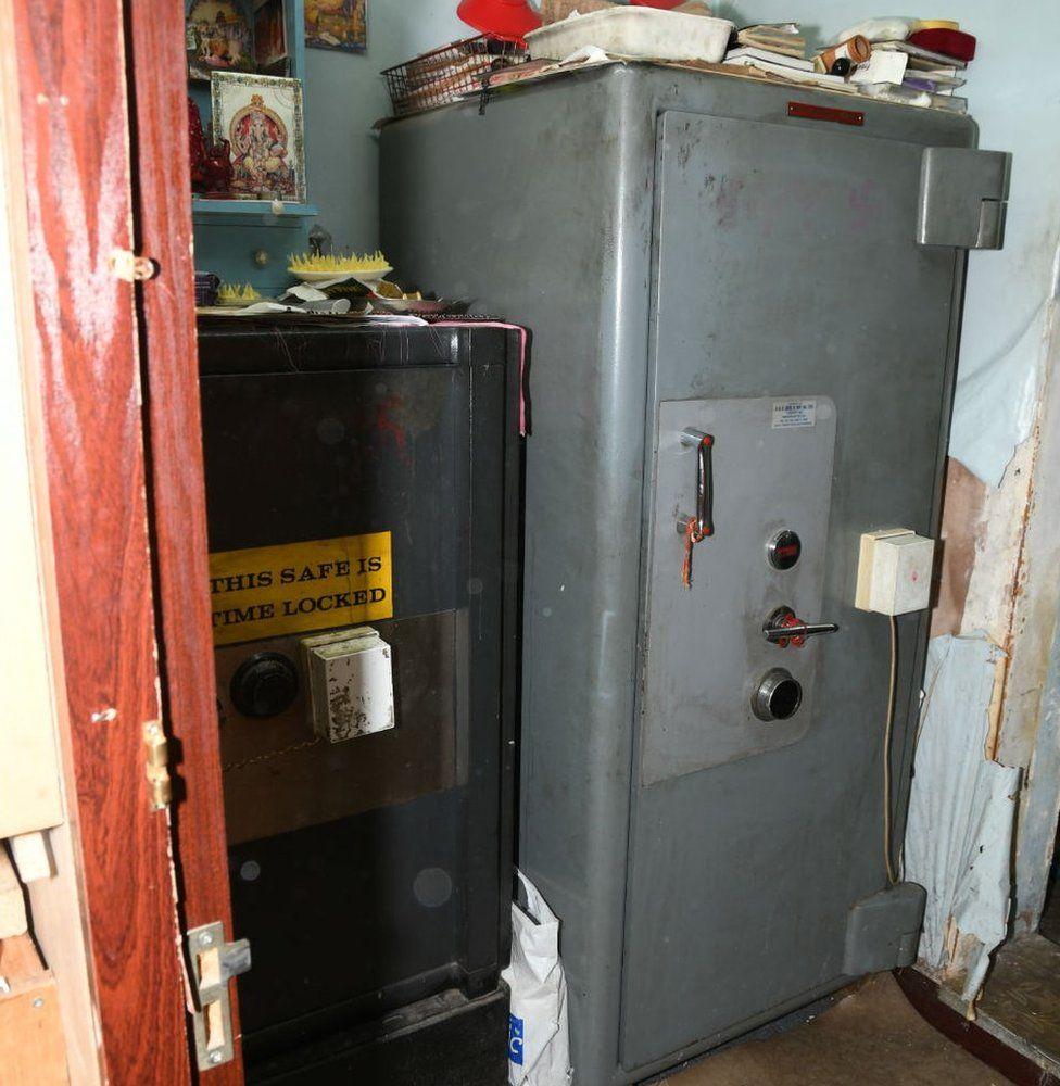 Safe inside shop