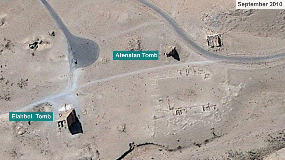 Tombs of Elahbel and Atenatan in September 2010