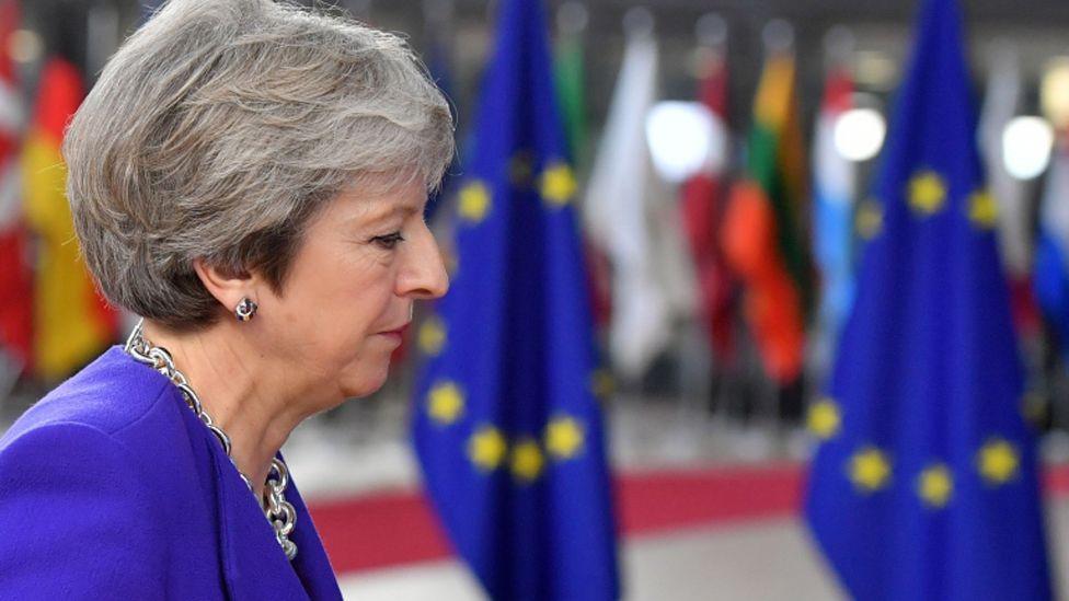 Theresa May at the European Council summit