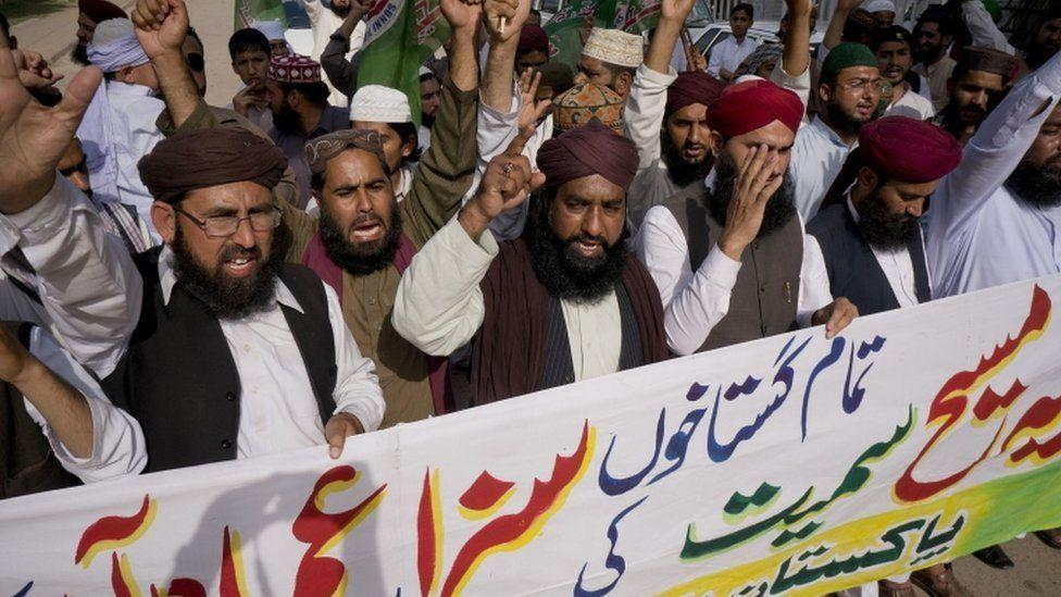 blasphemy protest in Pakistan