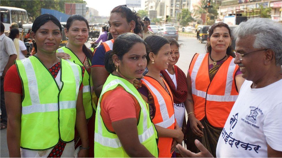 Transgender women working with police in India