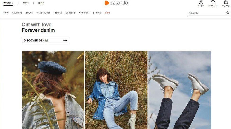 Zalando website
