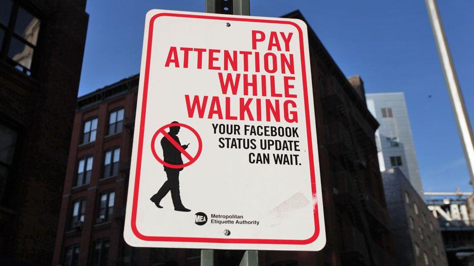 Social media warning sign