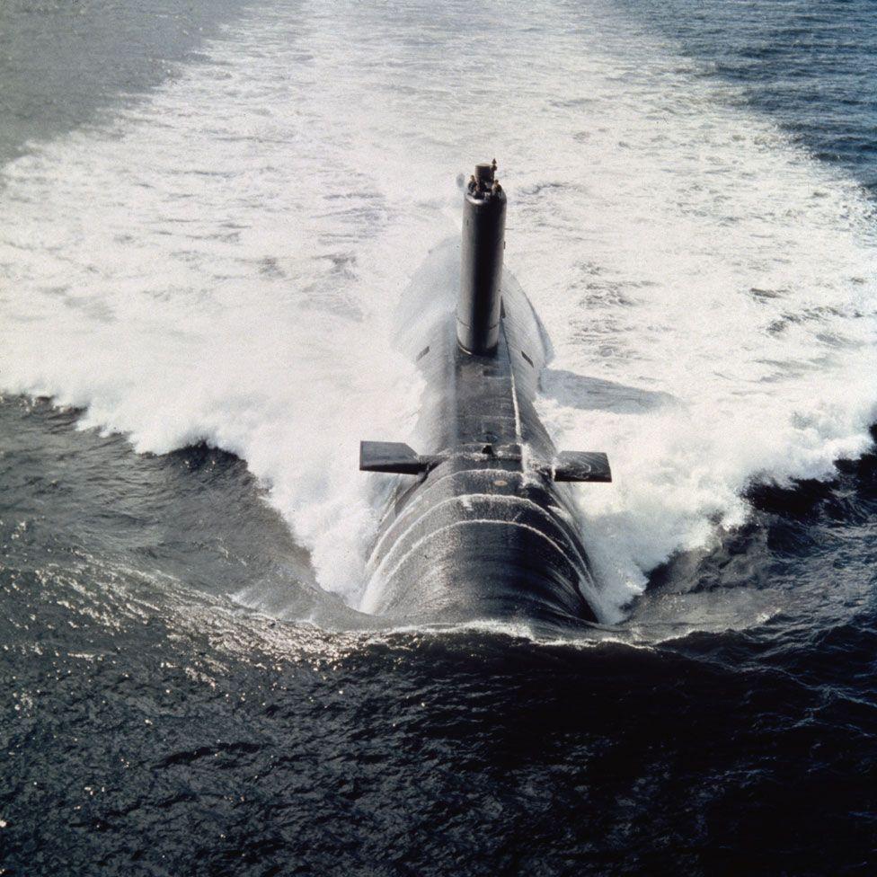 HMS Conqueror, one of the obsolete submarines