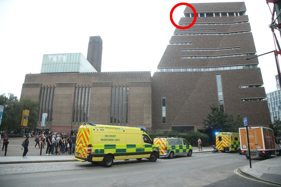Tate Modern attack scene