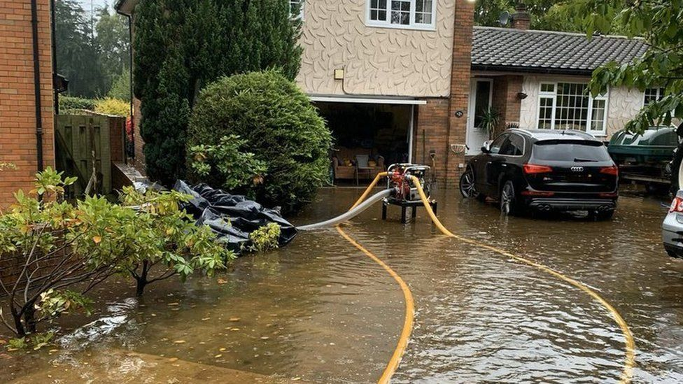 homes were flooded in Carlisle
