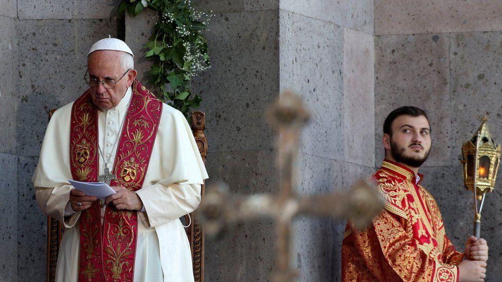 Pope Francis celebrates mass in Armenia
