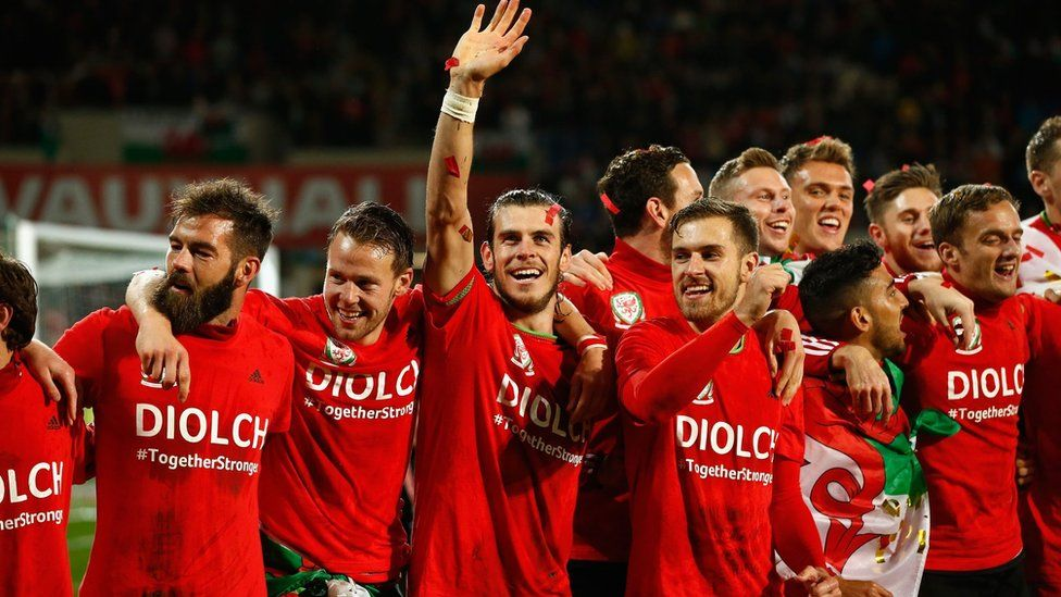 Wales celebrate at full-time