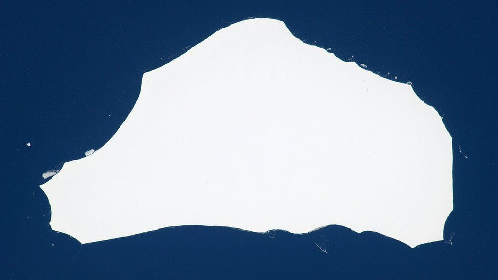 Tim Peake's iceberg, known as A-56, was roughly 26km by 13km (16 miles by 8 miles)