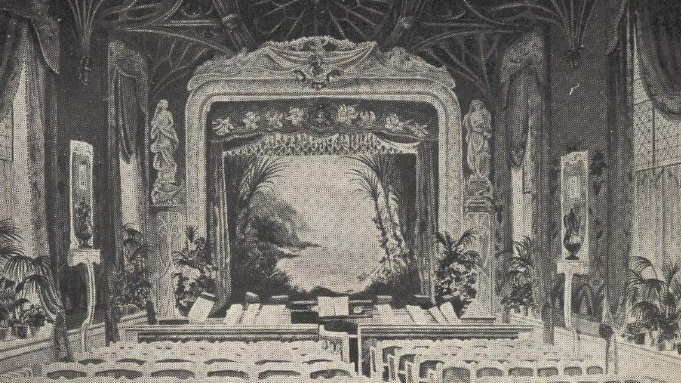5th Marquess of Anglesey's theatre at Plas Newydd - post card
