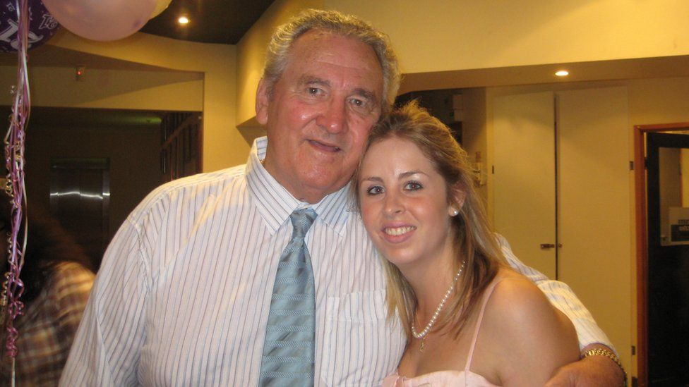 Amy Hayes with her grandfather, Alby Park