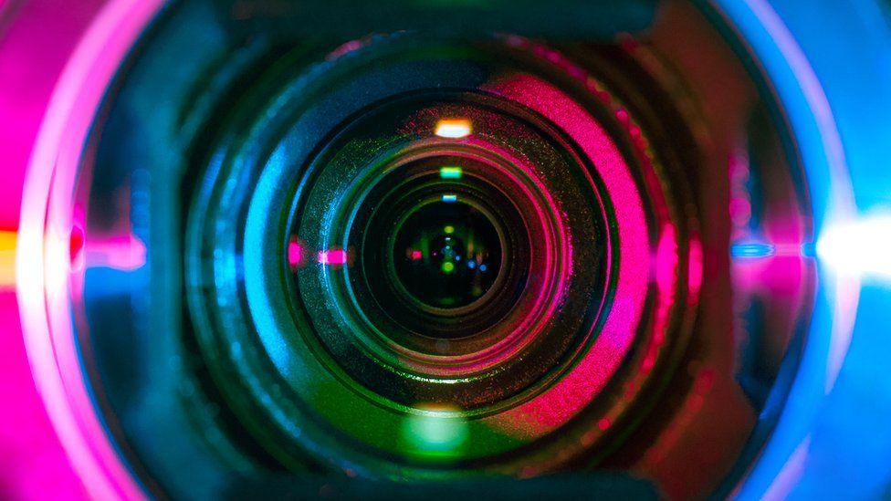 A close-up of a lens