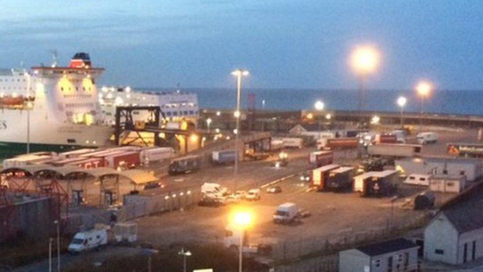 Ferry scene Rosslare