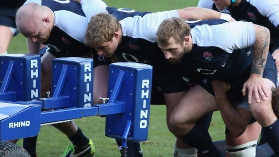 The England team training with Rhino equipment