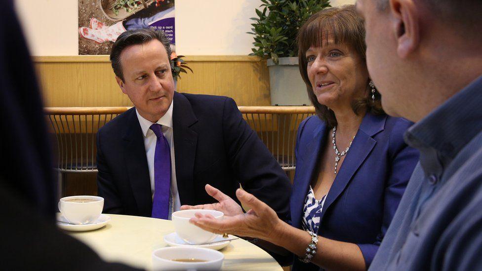 Ros Altmann with David Cameron in April 2015
