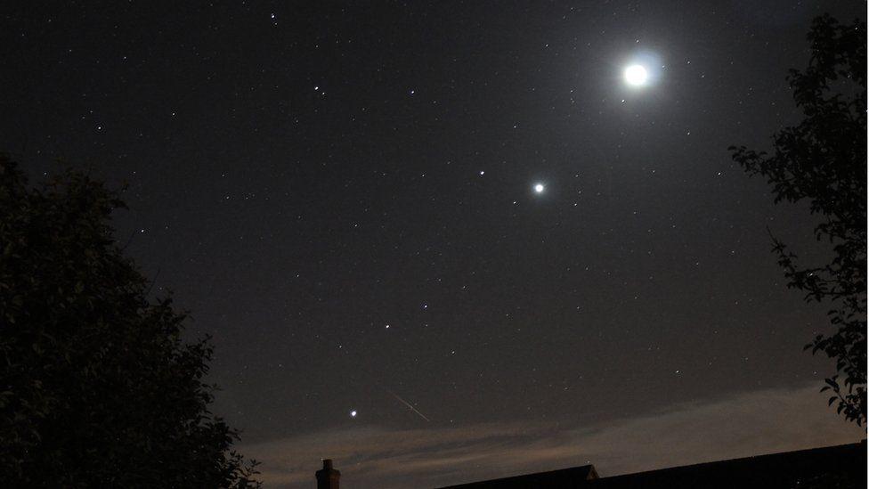 Mars. Jupiter and Venus